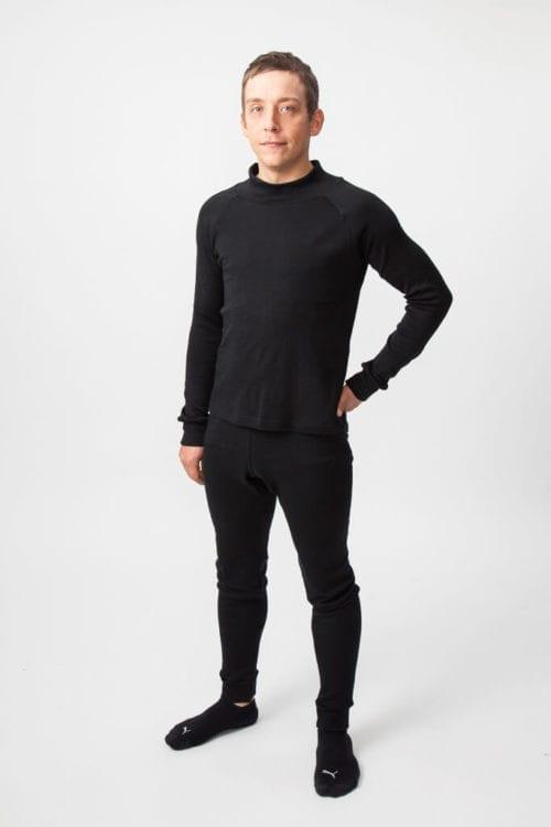 Miesten aluspaita ja pitkät alushousut