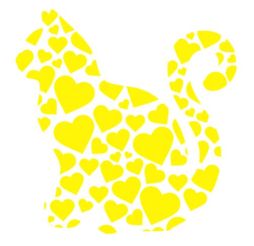 Sydänkissa keltainen